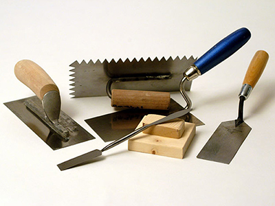 Tools of a Plasterer in Bramhall