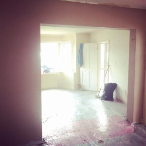 Archway re-plaster from rear in Heald Green