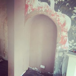 finished archway re-plaster in Heald Green.